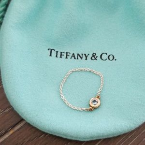 Tiffany & Co aquamarine chain ring